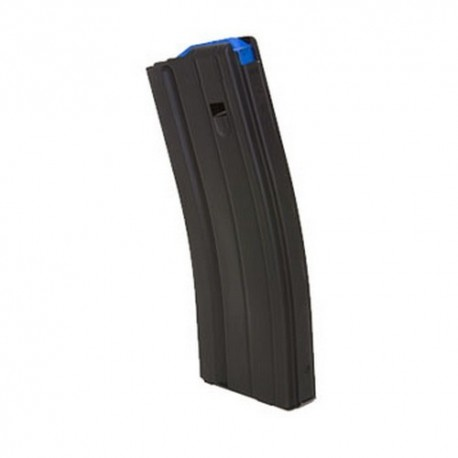 6.5mm 25 Round SS Magazine Matte Black Finish Blue Follower
