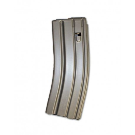.223 Cal 30 Round AL Magazine Gray Teflon Black Follower