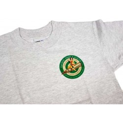 PTG Bomber Girl T-Shirt - Grey w/ Green Logo (No Pocket)