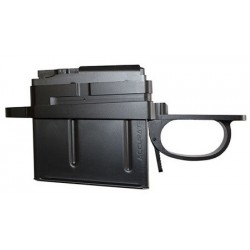 REMINGTON LONG ACTION (LA) STEALTH MILITARY STYLE FLUSH MOUNT DETACH MAG BOTTOM METAL + 5 RD MAGAZINE