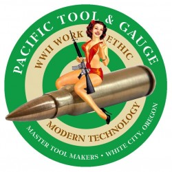 """3.5"""" PTG Bomber Girl Logo Sticker"""