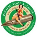 """3.5"""" PTG Bomber Girl Logo Sticker (Green)"""