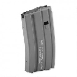 50 Beowulf Aluminum 5 Round Magazine Grey Finish Black Follower