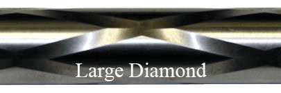 Large Diamond Fluting Bolt