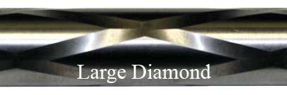 Large Diamond Fluting Bolt