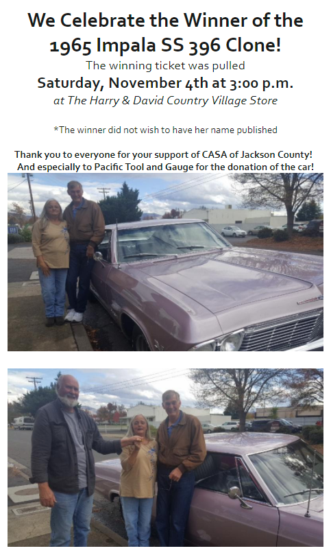 The winners of our donated 65 Impala