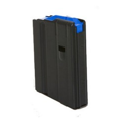 6.5mm 5 Round SS Magazine Matte Black Finish Blue Follower