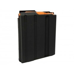 .223 Cal 5 Round lanced SS Magazine Black Finish Orange Follower