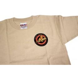 PTG Bomber Girl T-Shirt - Sand w/ Red&Black Logo (No Pocket)