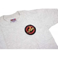 PTG Bomber Girl T-Shirt - Grey w/ Blk&Red Logo (No Pocket)