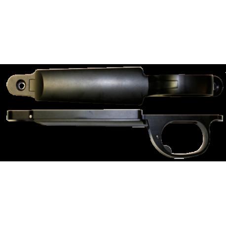 Short Action Winchester Oberndorf Bottom Metal - Black Aluminum